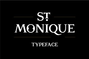 St. Monique Typeface