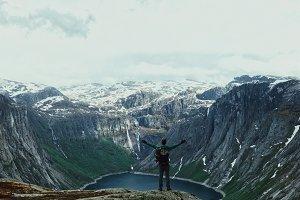Man gorgeous mountain landscape