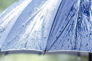 wet umbrella closeup