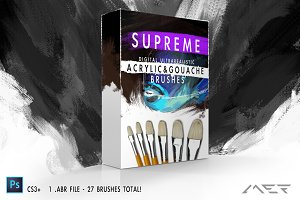 Supreme Acrylic & Gouache Brushes