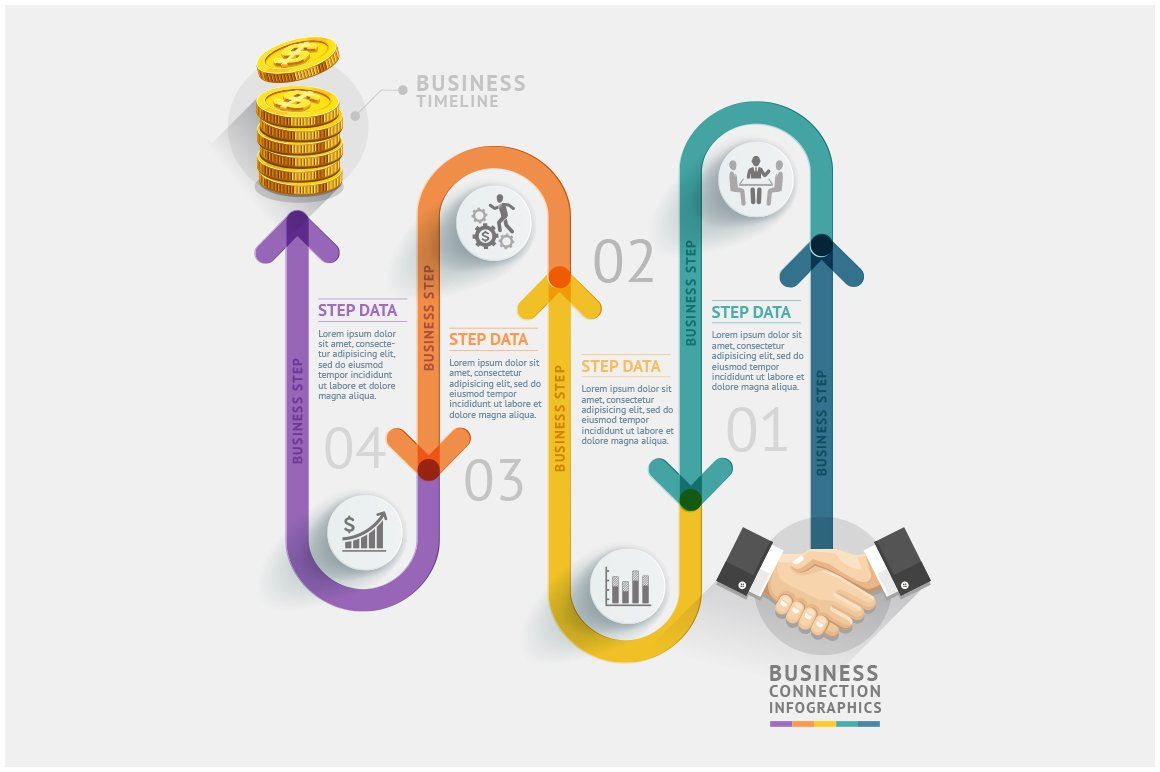 business timeline infographics presentation templates creative