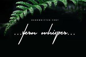 Fern Whisper - classy signature font