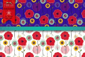 Two Poppies Patterns & Swatches