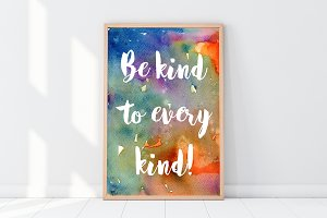 Vegan Poster, Be kind to every kind