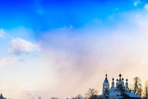 winter church in Russia