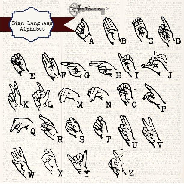 Sign Language Alphabet Graphics Creative Market