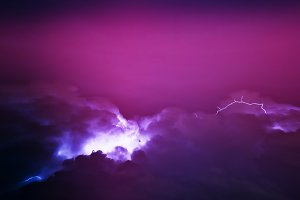 Pink storm in the skies backdrop