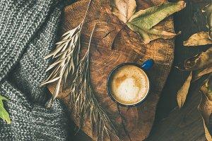 Autumn coffee concept