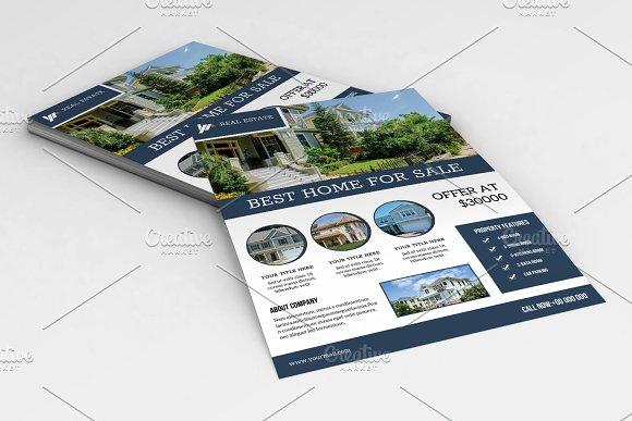 real estate flyer template v652 flyer templates creative market