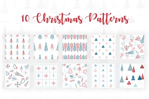50% OFF - 10 Gorgeous XMas Patterns