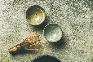 Japanese tools for matcha green tea
