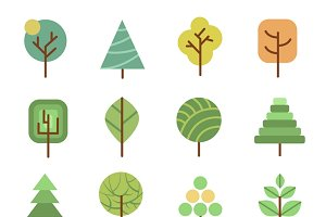Nature forest design icons