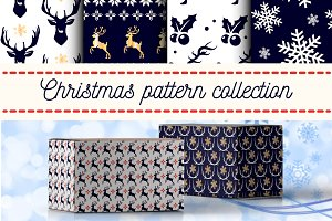 Christmas New Year Vector Patterns