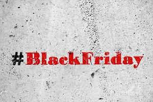 Black friday sale hashtag