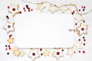 Background with Christmas cookies