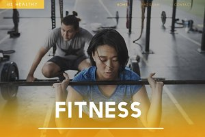 Healthy People Workout Concept