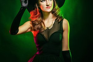 Attractive witch for Halloween