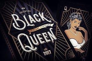 Black Queen font + bonus graphics