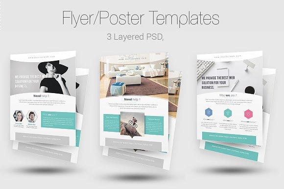 Minimal Flyer Templates Flyer Templates Creative Market