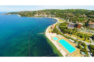 Aerial View Of Portoroz,slovenia