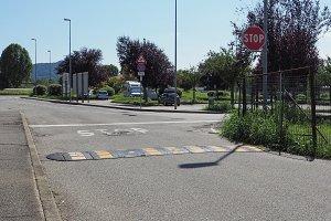 stop sign at crossroad