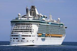 Luxury cruise sailing
