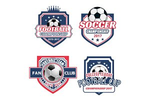 Vector icons for soccer championship cup