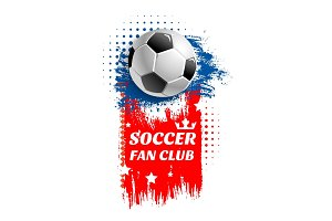 Vector poster for soccer football fun club