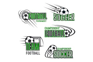 Vector soccer football tournament icons set