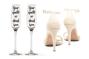 Champagne glass mockup