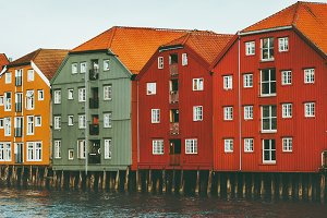 Trondheim, Norway colorful houses