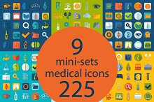 9 MEDICAL sets of icons