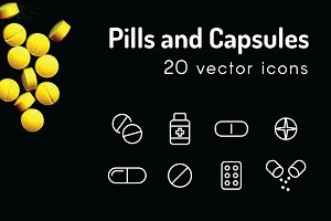 PILLS - vector line icon