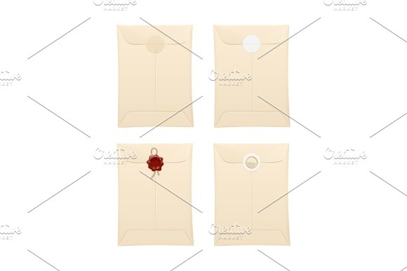 Paper Envelope With Protection Stamp