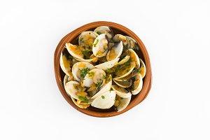 Clams with marinera sauce