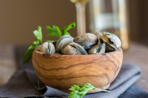 Bowl full of clams