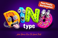 DinoType Font Family+Bonus