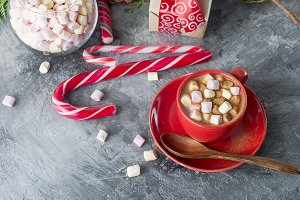 Christmas hot drink cocoa