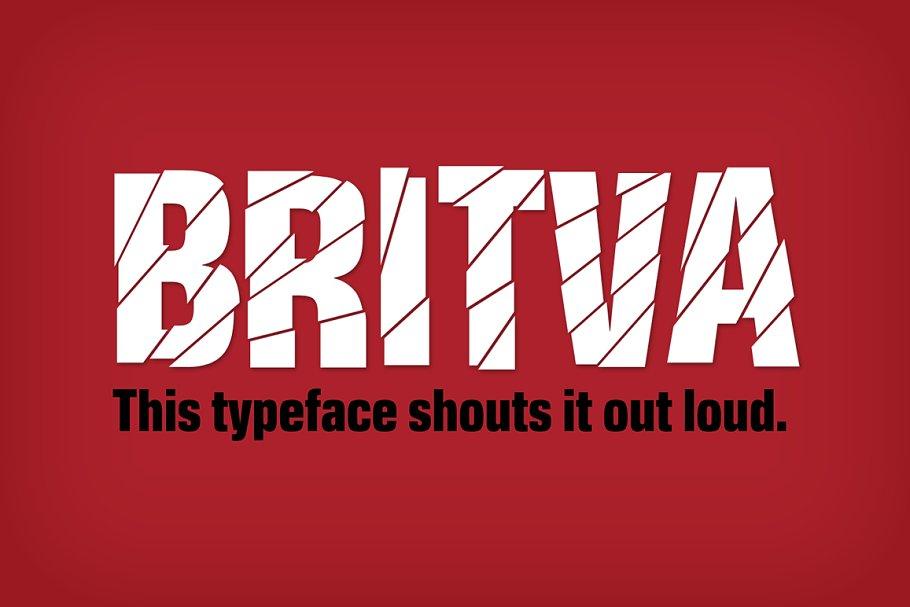 Britva Typeface