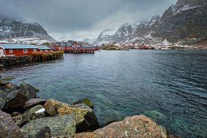 A village on Lofoten Islands, Norway