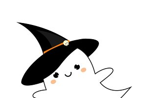 Cute kawaii ghost icon