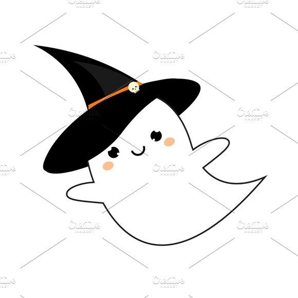 Cute kawaii ghost icon ~ Icons ~ Creative Market