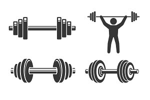 Dumbbell Icon Set