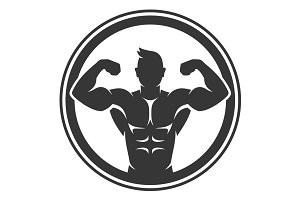 Bodybuilder Logo