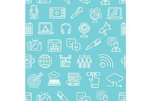 Blogging Pattern Background