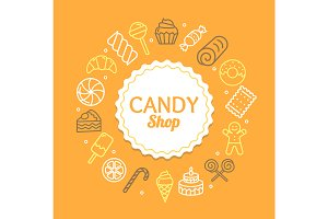 Candy Shop Color Round Icons