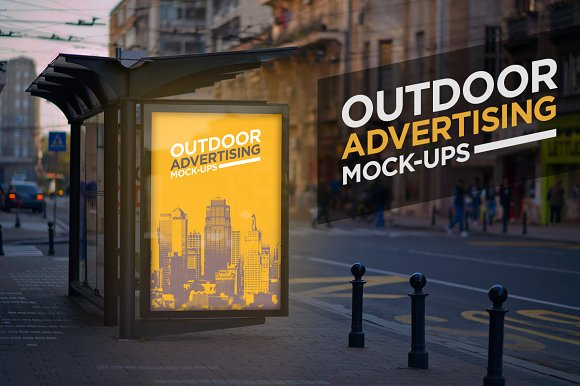 Outdoor Advertising Mock-Up-Graphicriver中文最全的素材分享平台