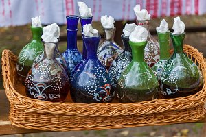 old pots and bottles