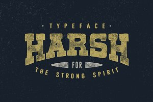 Harsh Typeface