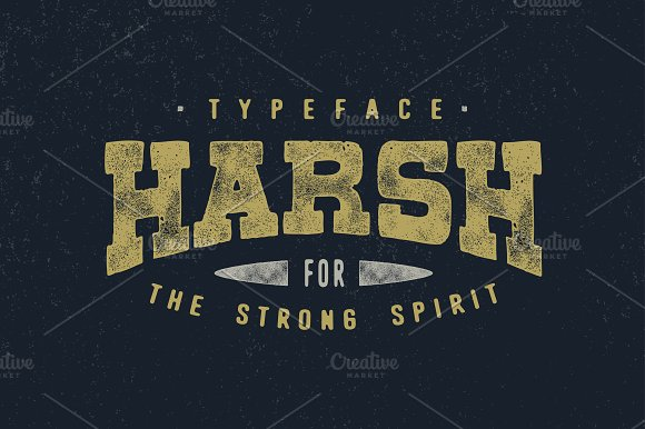 harsh typeface display fonts creative market